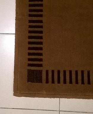 Bagno tappeto bagno modello wallflor variante marrone - Tappeto bagno marrone ...