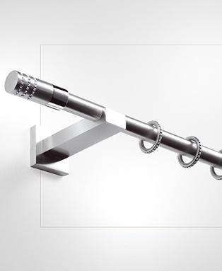 Bastoni tende acciaio for Tende senza bastone